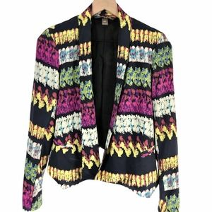 Charlie Jade Going Out Blazer 100% Silk Colorful S